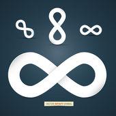 Fotografie Vector paper infinity symbol