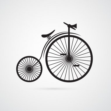 Old, Vintage Bicycle, Bike Isolated on White Background clip art vector