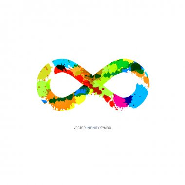 Infinity Symbol Made From Splashes