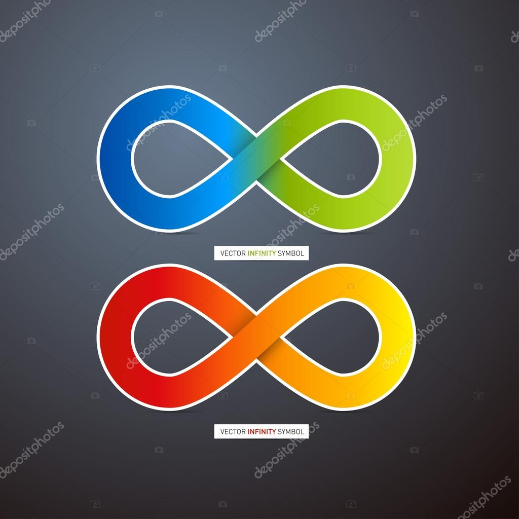 Vector infinity symbols stock vector mejn 35879627 two colorful vector infinity symbols on dark background vector by mejn buycottarizona Choice Image