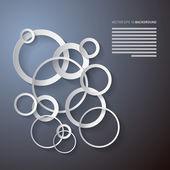 Fotografie Paper Cut Circles