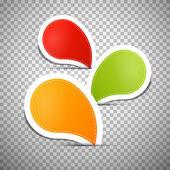 Fotografia arancione, verde, rosse vuote etichette, tag
