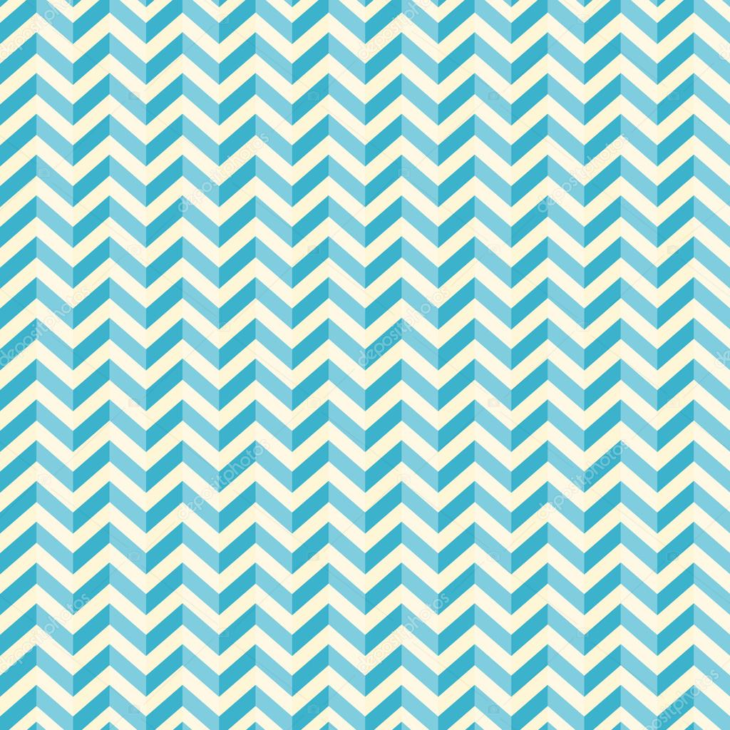 Retro Seamless Blue - White Background