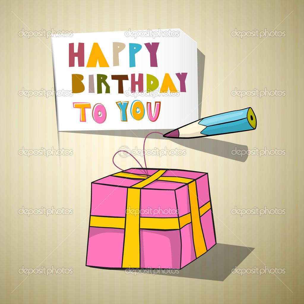 Alles Gute Zum Geburtstag Titel Geschenk Box Bleistift