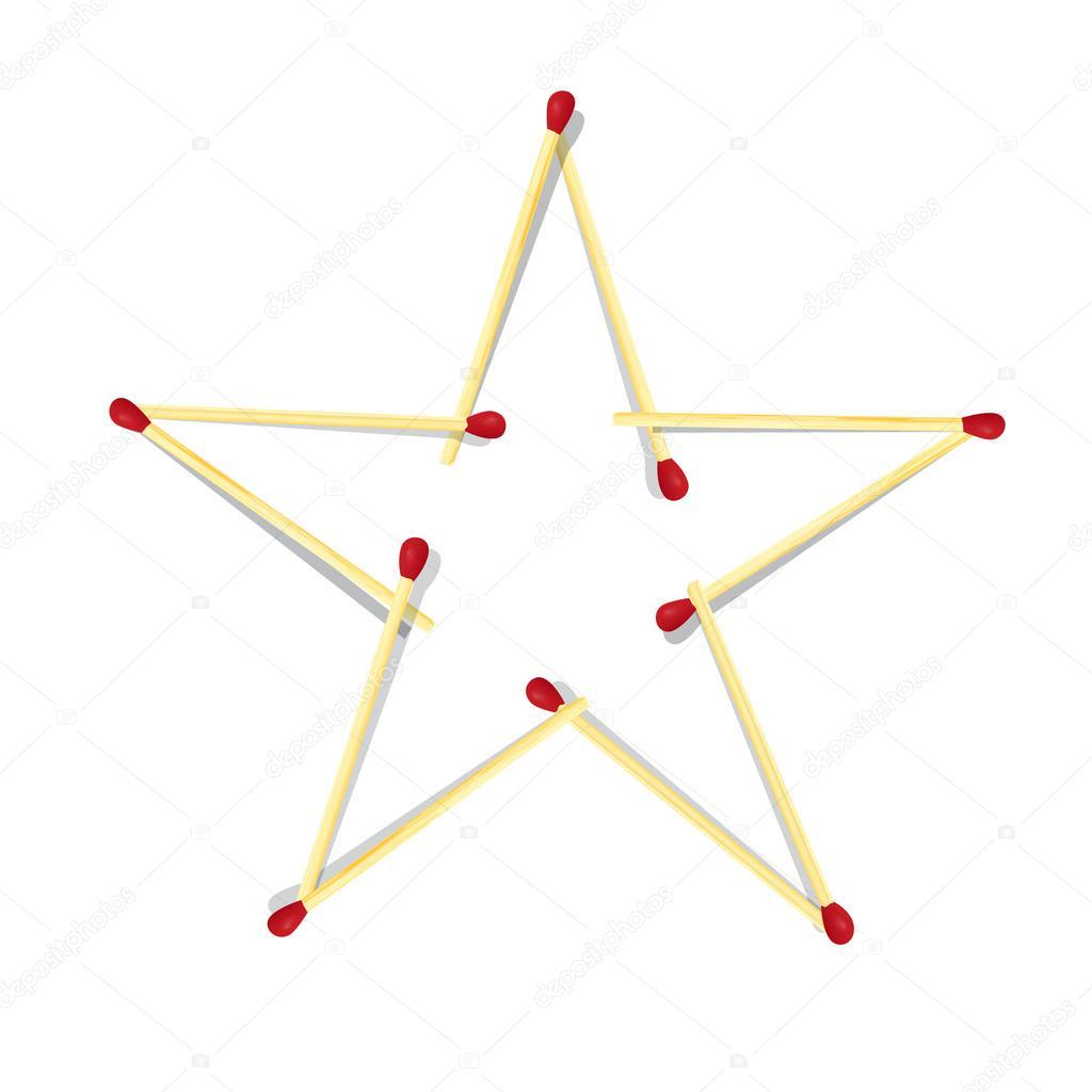 рисунок из спичек звезда быстро найти определенный