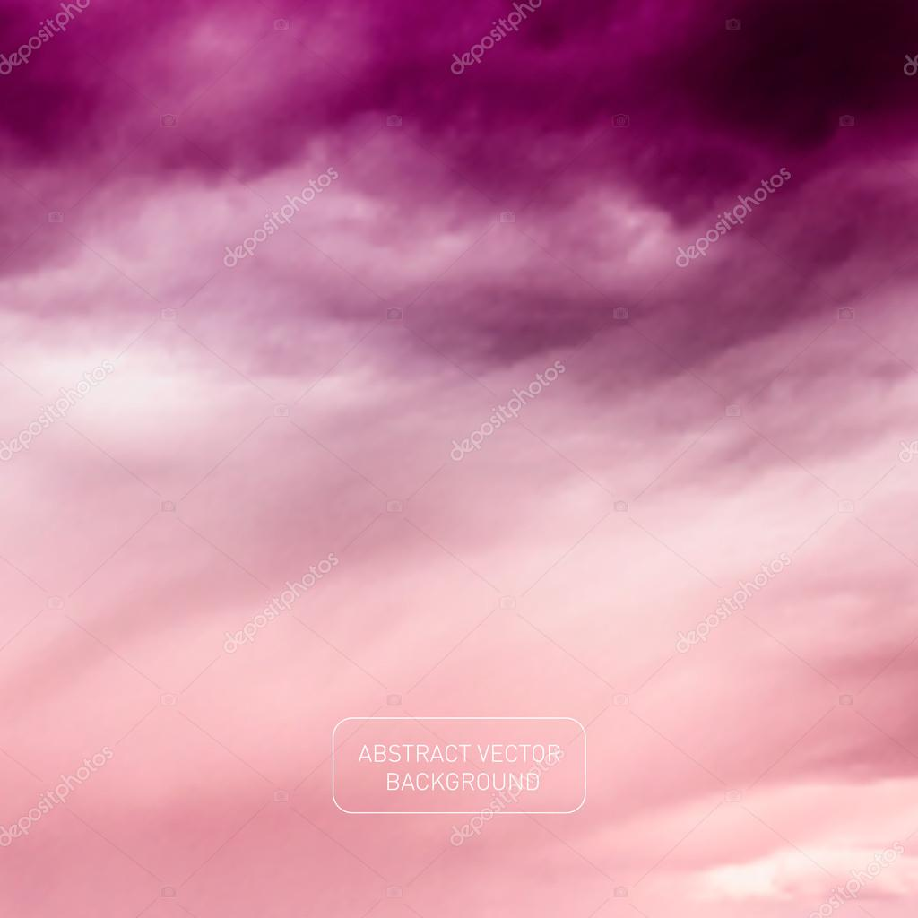 Vector Violet Sky - Abstract Nature Background