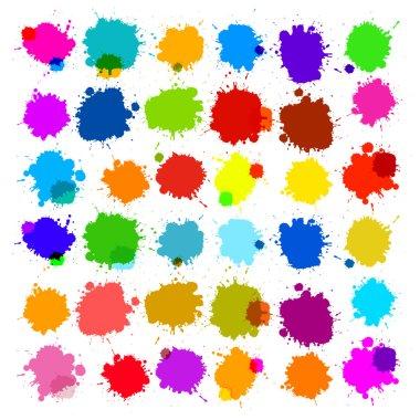 Colorful Vector Splashes - Blot, Stains Set clip art vector