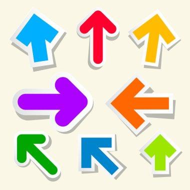 Colorful Vector Paper Arrows Set