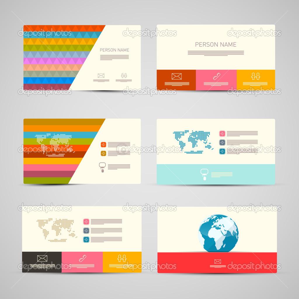 Vektor Papier Visitenkarten Vorlage Festgelegt Auf Grauen