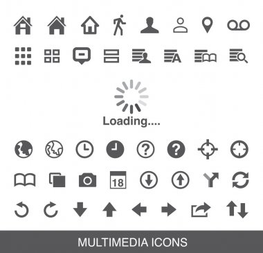 Moblie Smart Phone loading Multimedia Icon