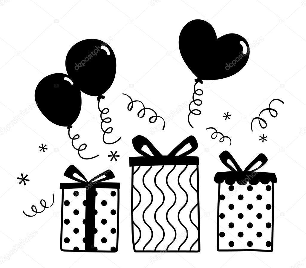 Картинки на прозрачном фоне с днем рождения черно белые, днем рождения женщине