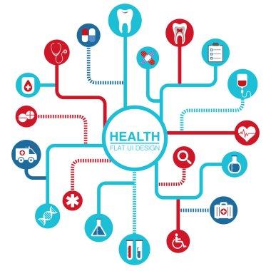 Health Flat UI Design icon