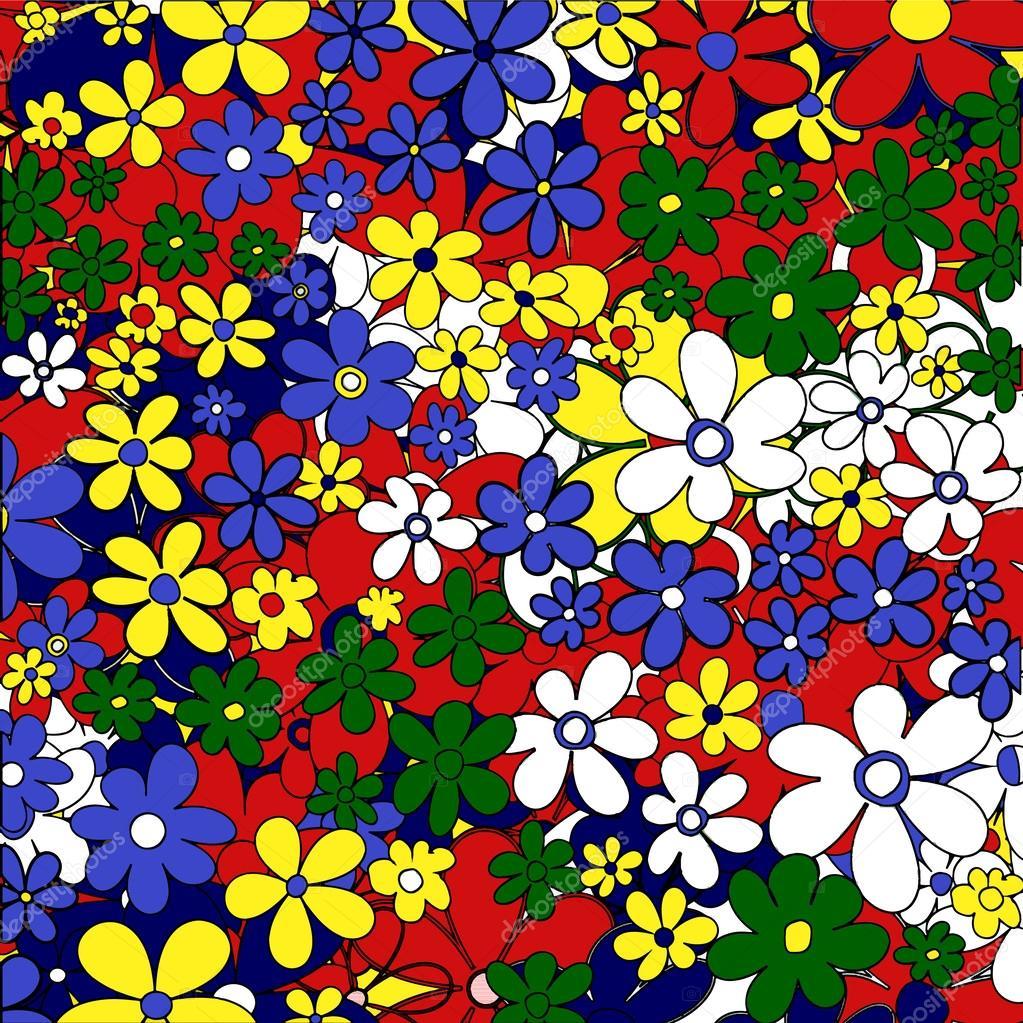 Pop art. Power flower