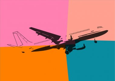 Pop art. Plane stock vector