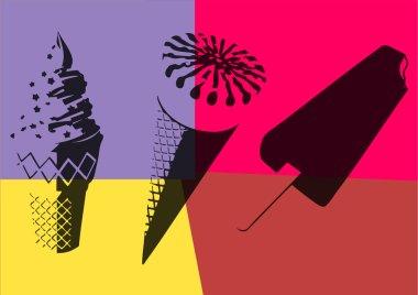 Ice cream. Pop art