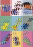 Fotografia Strumenti musicali. Arte di schiocco di vibrazione