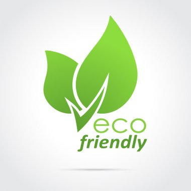 Eco friendly icon green leaves stock vector