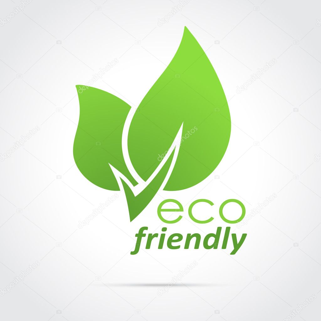 Eco friendly icon green leaves
