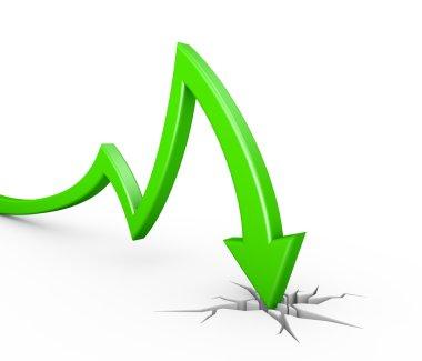 green arrow collapse