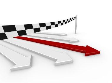 arrow race - winner