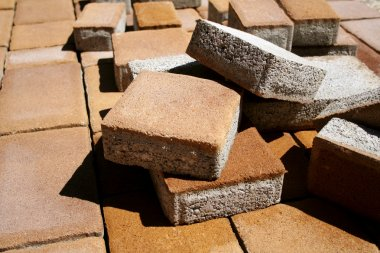 Heap of paving stone