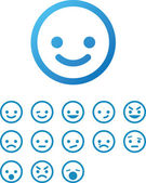 Photo Vector Smile Icon Set