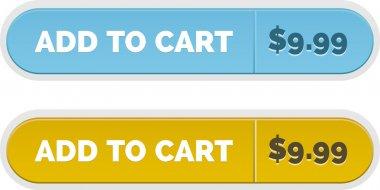 Vector add to cart button set