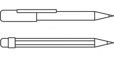 Vector Pen & Pencil Icon Symbol Set