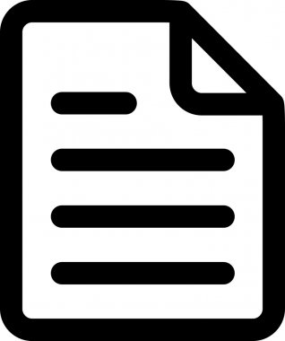 Vector Text Document Icon Symbol