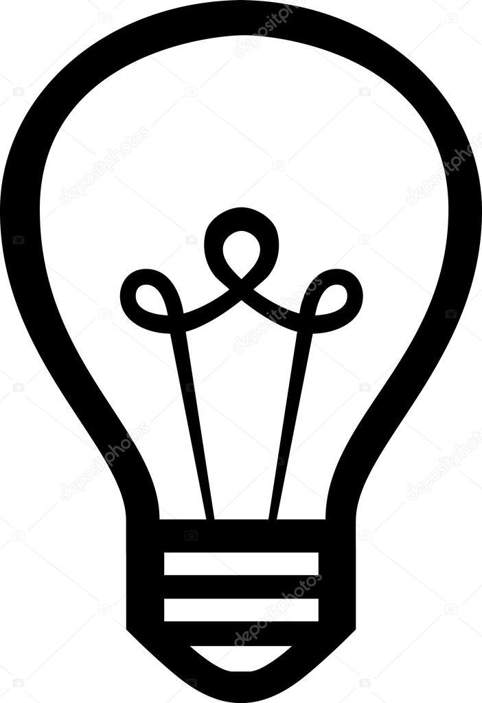 light bulb vector icon stock vector mikefirsov 35237167 rh depositphotos com light bulb vector free light bulb vector art