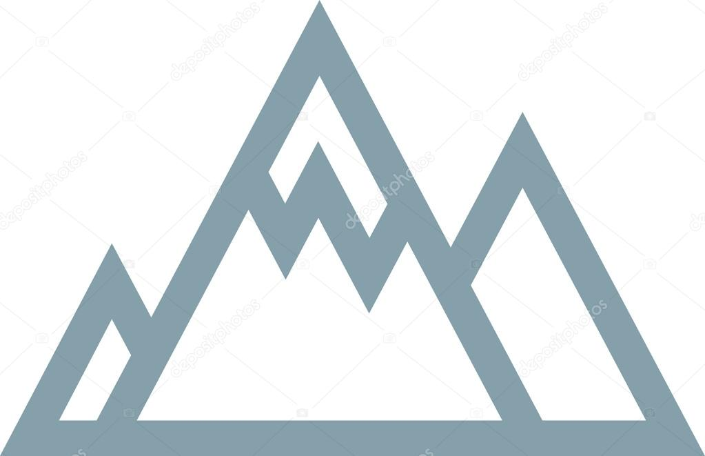 Vector Mountains Icon Symbol