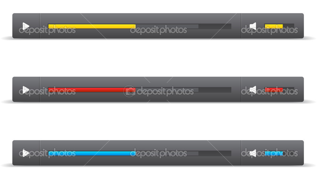 Vector Slider Scroll Bar Set Stock Vector Mikefirsov 35237845