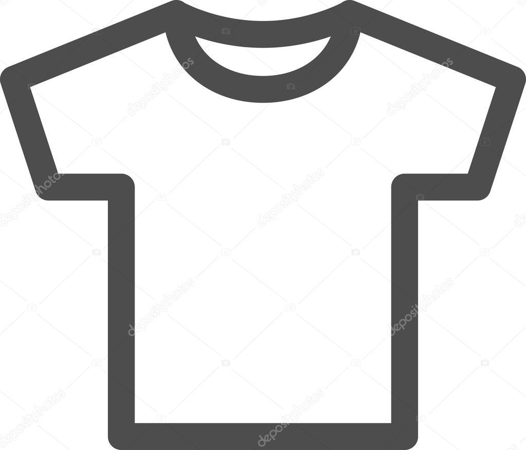 vector white blank tshirt icon symbol stock vector c mikefirsov 35237959 https depositphotos com 35237959 stock illustration vector white blank tshirt icon html