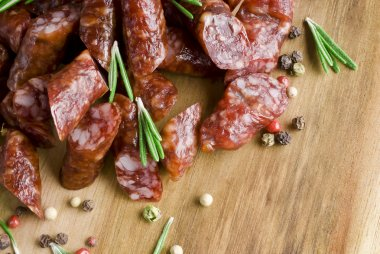 Smoked sausage with rosemary