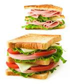 Kis toast szendvics elszigetelt fehér