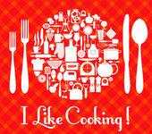 Fotografia icona set cucina