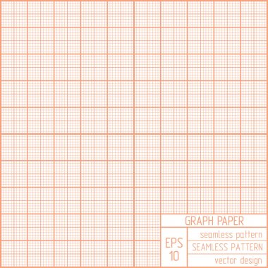 Graph paper seamless pattern.