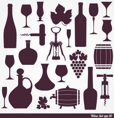 Wine set background.