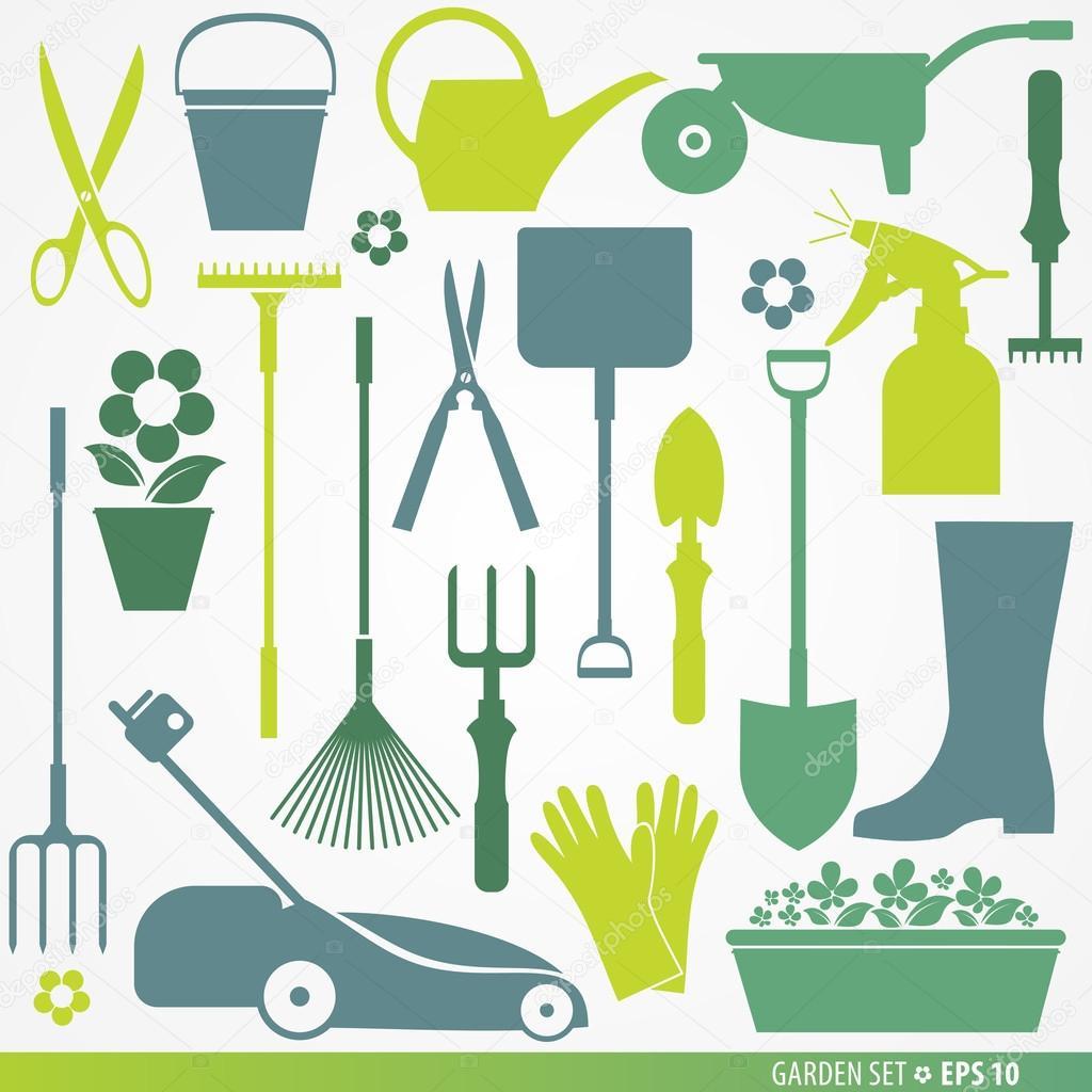 Garden set icons