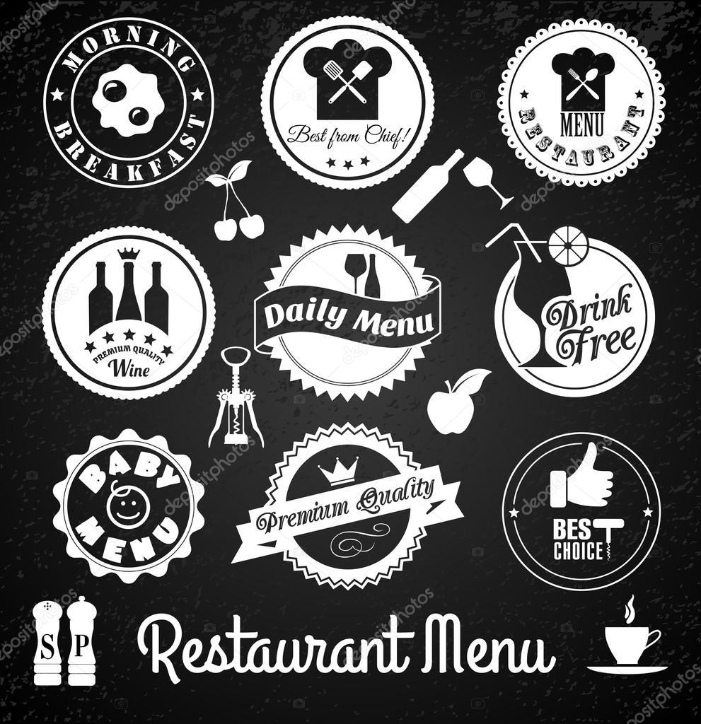 Restaurant label set