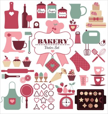 Bakery icons set.