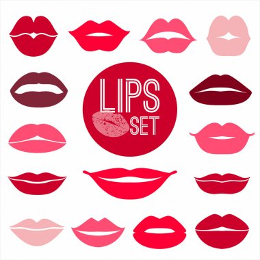 Lips set. design element. stock vector