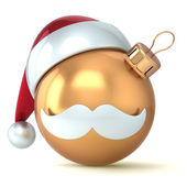 Christmas ball Happy New Year bauble gold ornament Santa hat decoration avatar emoticon icon golden