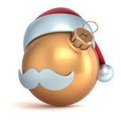 Christmas ball ornament Happy New Year bauble gold Santa hat decoration avatar emoticon icon golden