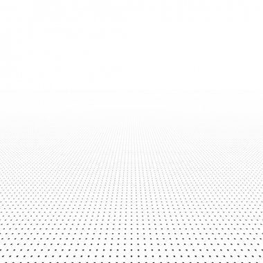 White dotted background of vision perspective. Vector illustration.