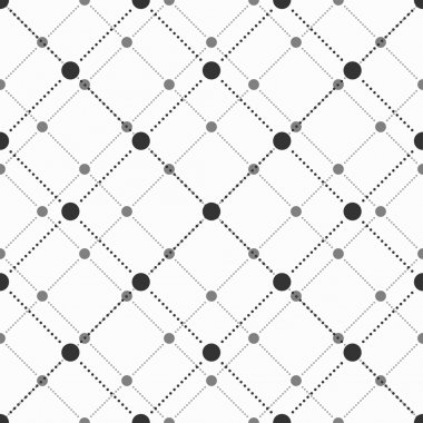 Abstract geometric pattern of the points. Gray and white texture. Seamless vector background
