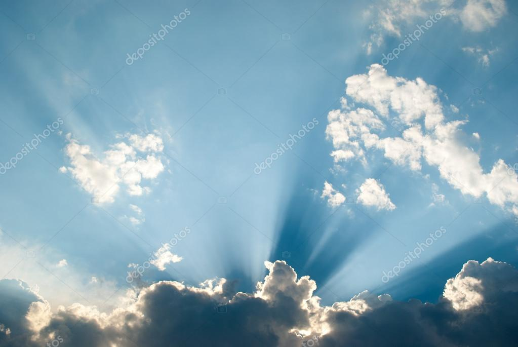 Sun ray in the sky