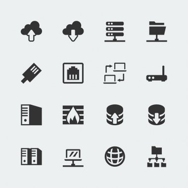 Vector network mini icons set