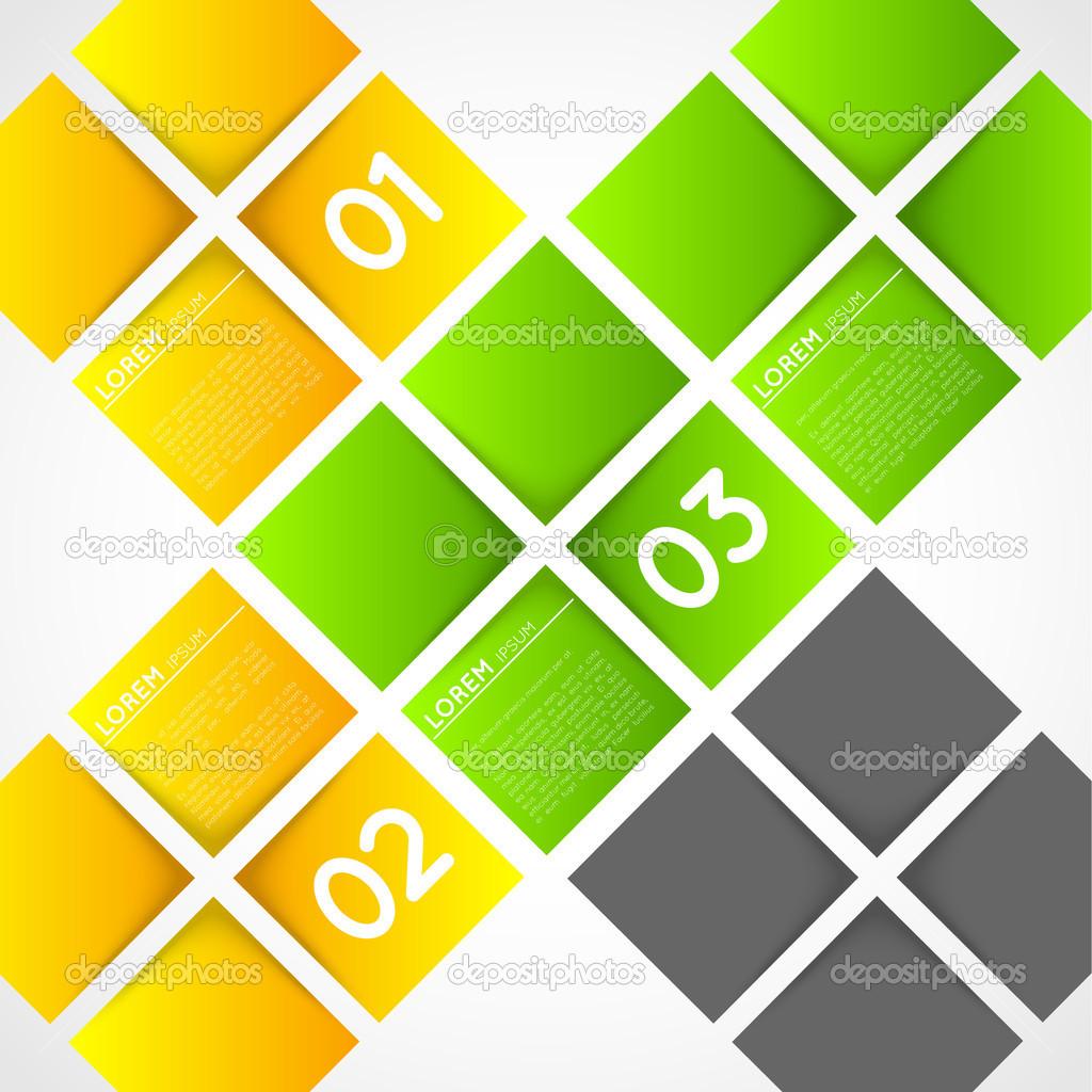 Vektor-Ifographic Vorlage Quadrate — Stockvektor © RChvision #35096207