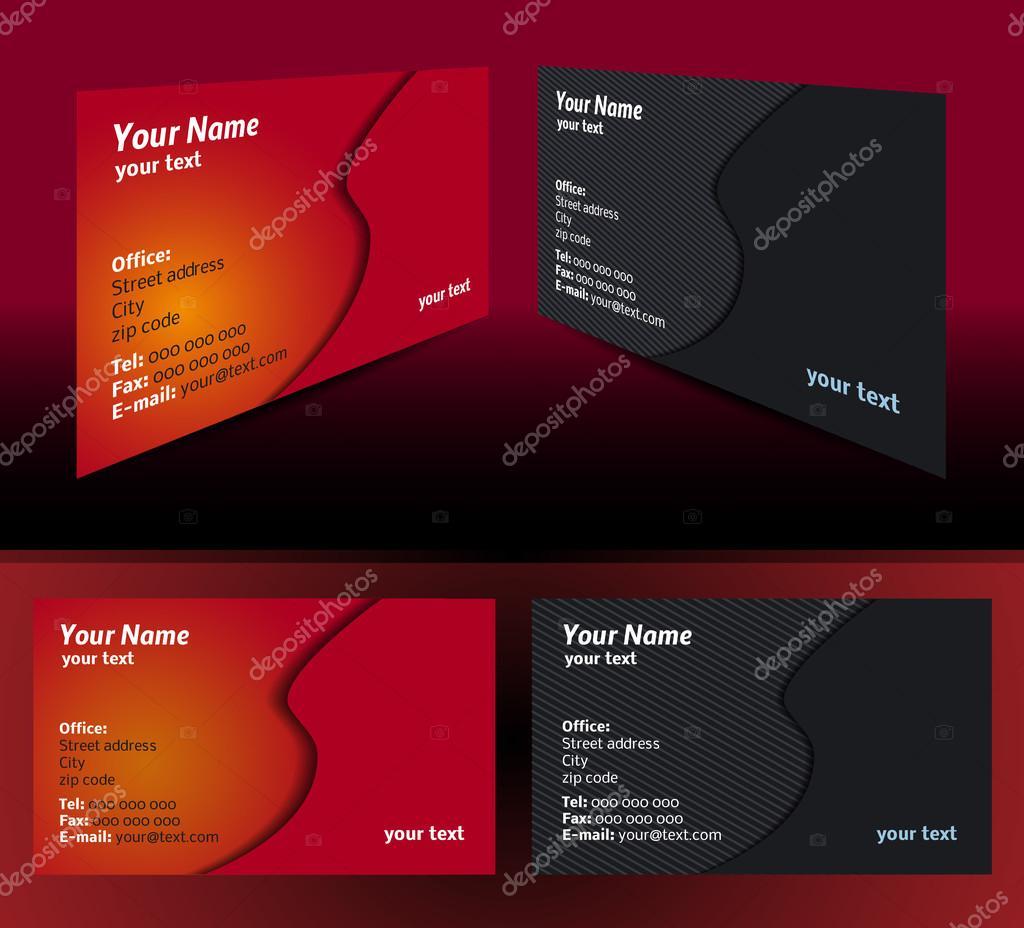 Visitenkarten Vorlagen Stockvektor Rchvision 35548279